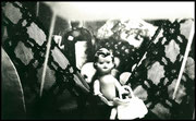 still life, photography, miniature stage, staged, toys, plastic, wood, glass, black & white, schwarz weiss, fotografie, kunst
