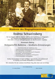 Zertifikat des Biographiezentrums