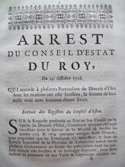 LEX.18.001 Arrest du Conseil d´Estat du Roy (Versailles, 1708) / © Sammlung PRISARD