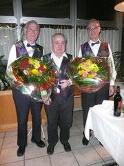 Die Jubilaren: Fanz Schnyder, Hans Paulmichl, Alfons Hinder