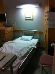 長崎医療センターの病室(四人部屋)