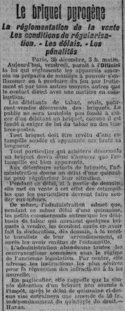 Article de l'Est Républicain du 30 décembre 1910