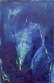 Sabine Wenig: ohne Titel, Öl auf Leinwand, 1999, 80x50 cm