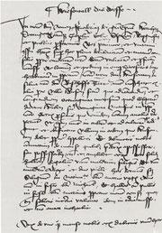 Ausschnitt aus der Abschrift der Wiesentaler Gründungsurkunde