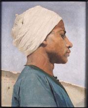 Paul Leroy (1860-1942), Portrait d'un jeune guide arabe, huile sur toile, 1884, Musée des beaux-arts de Brest.