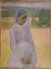 Henri Martin, Jeune Sainte, huile sur toile, 1891, musée des beaux-arts de Brest.