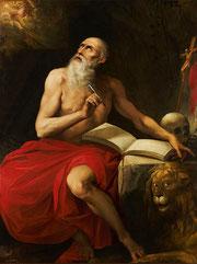 Le Cavalier d'Arpin, Saint Jérôme, huile sur toile, musée des beaux-arts de Brest.