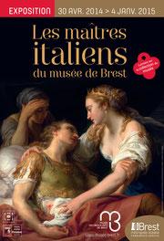 Affiche de l'exposition Les maîtres italiens du musée de Brest. Direction communication de Brest métropole océane.