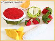 Salde de fruits en feutrine, jeu dinette pour les enfants
