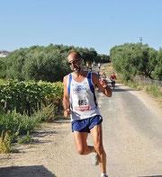 Nuestro gran amigo Dioni,en la carrera de San Sebastian de los Ballesteros, celebrada en el pasado año 2011.