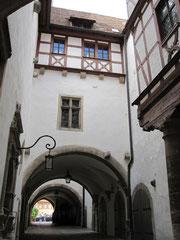 Rothenburg o.d. T., Lichthof des Rathauses