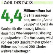 """""""Man gönnt sich ja sonst nichts!"""" - Meldung: NRZ, 06.12.2013."""