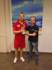 Michele Cortese premiato dal presidente Battaglia