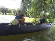 raid sportif en canoë poinconnage à la balise