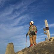 -中岳山頂にて撮影-