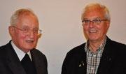 Prof. Dr. Norbert Trippen (li.) und Pfarrer Karl-Heinz Sülzenfuß
