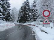 Route d'accès à La Mongie fermée        © C-PRIM