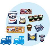 乳製品の配送は尼崎の東長洲