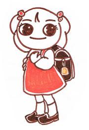 春・入学式 姪の写真から描いたもの