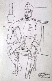 Apollinaire 1916 (dessin de Picasso)