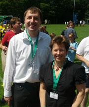 Abteilungsleiter Matthias Biggen mit der Vizepräsidentin des FSA, Elfie Wutke