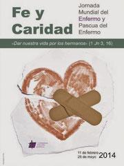 Cartel de la Jornada Mundial del Enfermo 2014