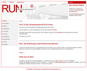 Screenshot der ehemaligen RUN-Homepage