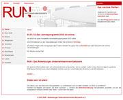 Screenshot der ehemaligen RUN-Homepage