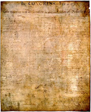 National Archives. The Declaration of Independence. PD-Art-prior1923-USA