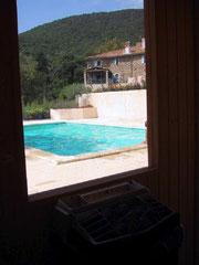 Vue de la fenêtre du sauna