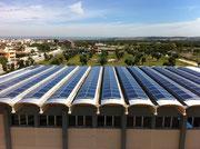 Pannelli solari sul Palazzetto dello Sport