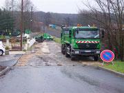 Réfection complète de la rue du Banné - Novembre 2012