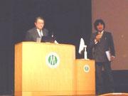 (写真左:JSBi会長 松田秀雄教授(大阪大学)、右:高野良教授(琉球大学))