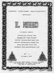 Prima pagina del Nibbio n°1 Dic 94