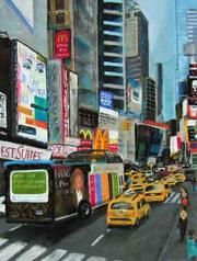 Belebte Straße in New York