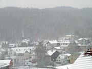 Schmitten im Nebel des Schneetreibens