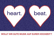 Flyer: heart.beat. alternative wedding music