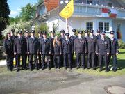 Einsatzabteilung im Jubiläumsjahr ohne die aktiven Kameradinnen von den Festdamen.