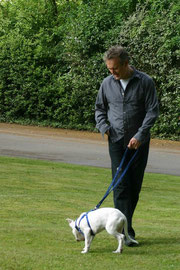 Tony with foster pup Colin. Photo: Sarah Fisher