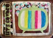 un gâteau d'anniversaire confectionné par Anne photo Bernard Héliord