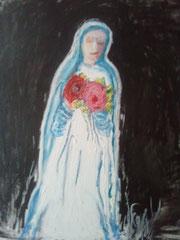 """Hansi Oesterlein """"Liebe und Friede"""" 80x100 Acryl"""