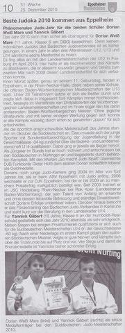 Eppelheimer Nachrichten (25.12.2010)