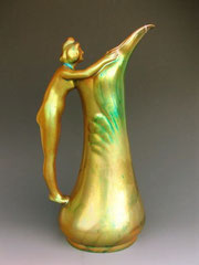 Zsolnay pitcher, 1920s