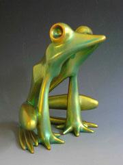 Zsolnay Frog Figurine, 1970s
