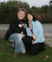 Andrea und Heinrich mit Ilvy am Tag der Abholung