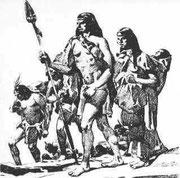 llegada de varios grupos Chichimecas.