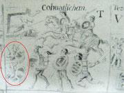 Defensa de la comunidad de Coatlinchan  por los Yaotlakuatzin contra los invasores españoles y sus aliados Tlaxcaltecas. Lienzo de Tlaxcala