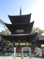Three storied Pagoda in Ishiteji