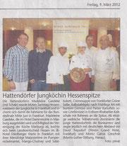 Hattendörfer Jungköchin Hessenspitze  (Mitglied Madeleine Gaedeke siegt im Rudolf-Achenbach-Preis in Hessen)