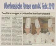 04.02.2010 Zwei Marburger arbeiten im erweiterten VKD-Bundesvorstand  Andreas Buß und Michael Faulhaber in Deutschlands höchstes Kochgremium berufen